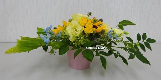 テーブルの花 センターピース-1.JPG